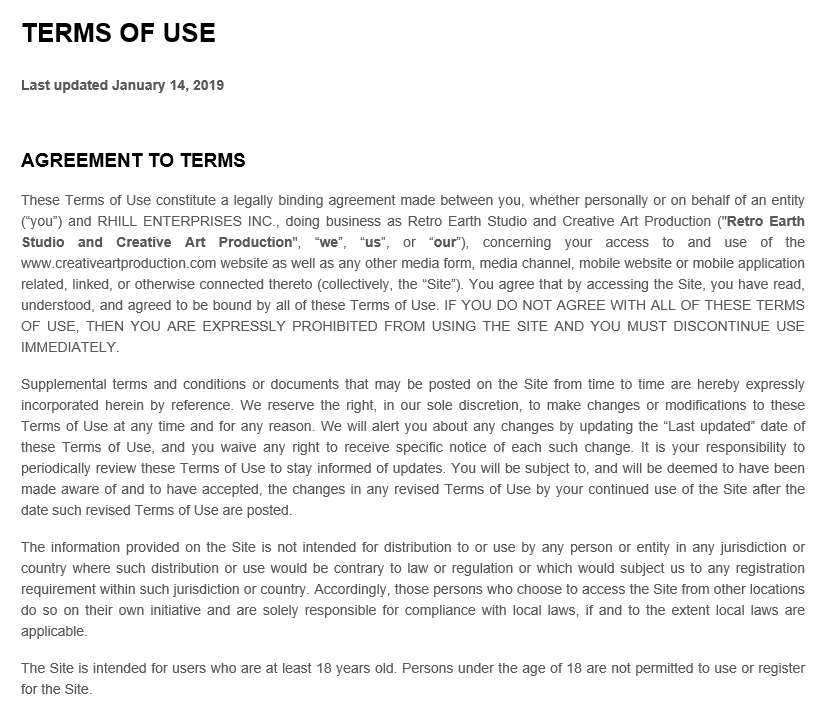 Terms Of Service 2